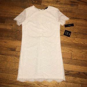 NWT Lulus White Shift Dress